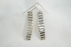 Corrugated Long Earrings